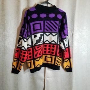 Vintage Burlington Sweater sz L/XL 80s 90s